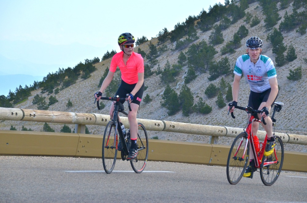 James Turner and son Hugo tackle Mount Ventoux