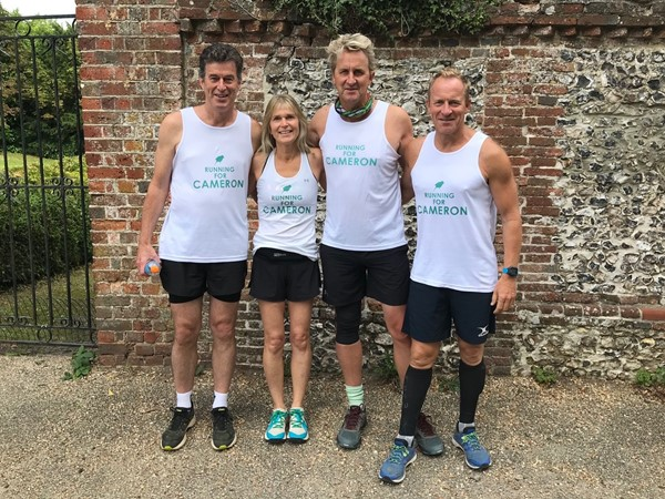 Christopher, Corinne, Hugo and Rupert just before our long run at Droxford