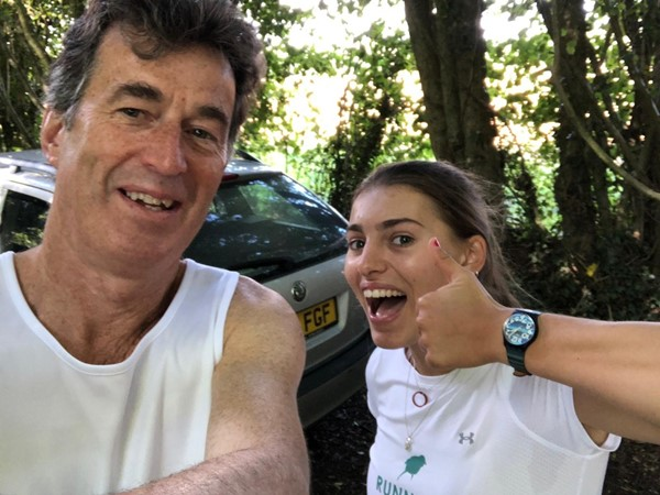 Who's ready for a 20 mile run?  Christopher and Tash Smailes.
