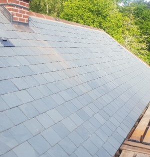 Cottage roof completed