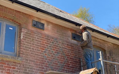 A total of six swift bricks were installed